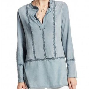 NWT✨ Anthropologie Calypso Suede Tunic Cahroi Top
